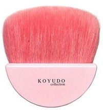 Koyudo H Series H013 Fan Shape Brush w Baby Goat - makeup brush blog