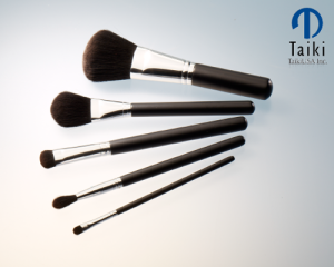 TaikiUSA makeup brushes made with the company's patented Tafre fiber.