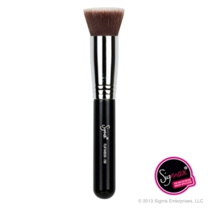 Fullest coverage. Choose a flat-top brush with tightly packed synthetic fibers. Top pick: Sigma F80. $21. Made with Synthetic Sigmax. On Makeup Alley, this brush gets 4.6/5 rating with 89% reporting they would buy it again. This is Sigma's most popular foundation brush, and it's recommended for use with liquid and cream foundations. But many women like it best for their mineral makeup. We recommend buying this directly from Sigma, to avoid getting a knockoff.