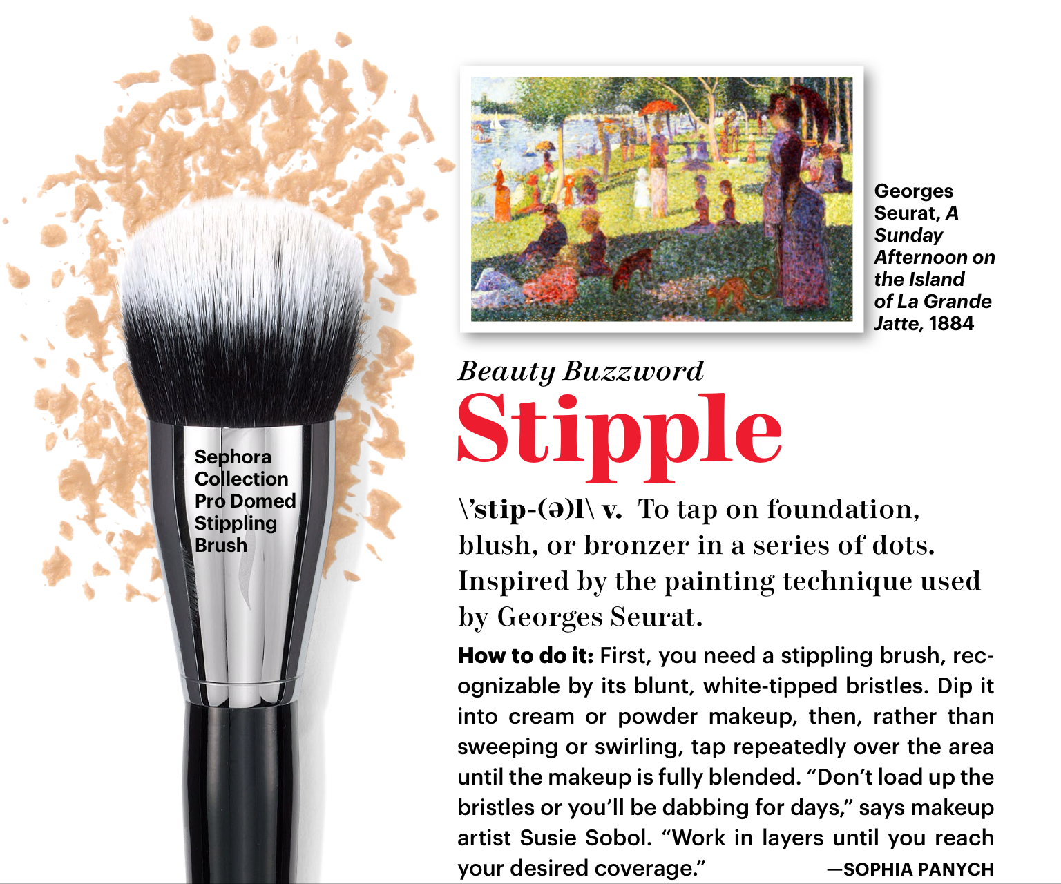 Stipple Brush Makeup Stipple Brush Allure March