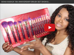MRSDIVA Like reviewed the 15-piece 15th Anniversary Makeup Brush Set from Sonia Kashuk.