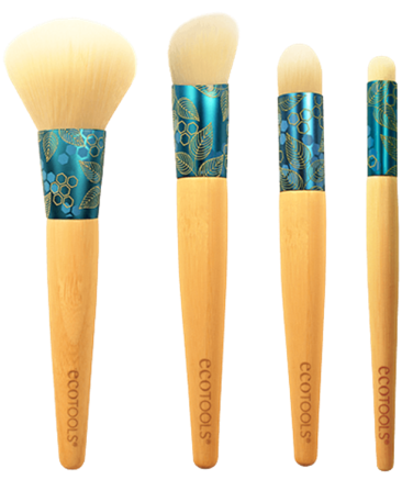 EcoTools Complexion Collection Brshes. Prices range from a MSRP of $4.99 to $8.99 or can be purchased on ecotools.com for a limited time as a bundle for $20.99.
